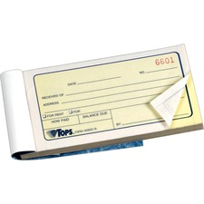 TOP 46820 Tops Carbonless Money Receipt Books TOP46820