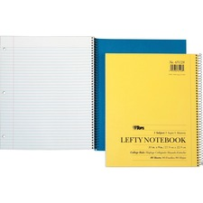 TOP 65128 Tops Lefty Kraft College Ruled Notebook TOP65128