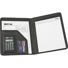 VCT 1135BLK Victor Professional Pad Holders w/ Calculators VCT1135BLK