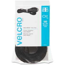 "Velcro 8"" Reusable Adjustable Pre-cut Cable Tie"