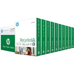 HP Recycled White Letter Paper - 20 lb - 92 bright - 500 sheets