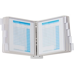 Durable Sherpa Wall Display Reference System Grey - 20 Documents