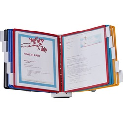 Durable Sherpa Desk Display Reference System Assorted Bordres = 20 Docs