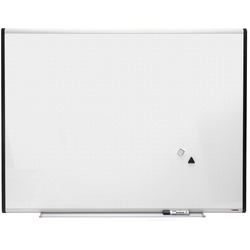LORELL Signature Magnetic Dry Erase Board with Grid Lines 3' x 4'