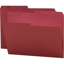 Smead Reversible Letter File Folder 10369 - Maroon 100 pack
