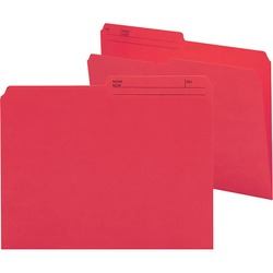 Smead Reversible Letter File Folder 10372 - Red 100 pack