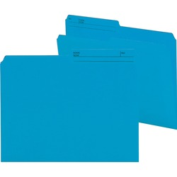 Smead Reversible Letter File Folder 10373 - Sky Blue 100 pack