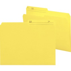 Smead Reversible Letter File Folder 10374 - Yellow 100 pack