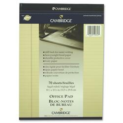 Hilroy Cambridge Legal Size Legal Ruled Notepad - 70 sheets