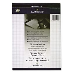 Hilroy Cambridge Quad 4 Ruled Office Pad - 80 sheets
