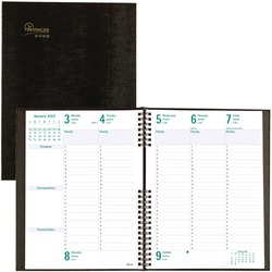 Blueline Hard Cover Weekly English Appointment Book