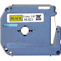 Brother Non-Laminated Label Tape Black/Gold 9 mm
