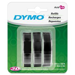 Dymo Black Glossy Embossing Tapes 3/8