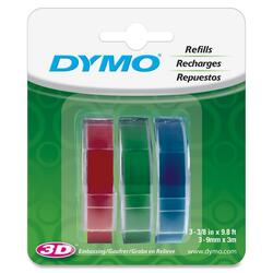 Dymo Assorted Glossy Embossing Tapes 3/8