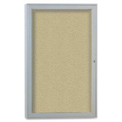 Ghent 1-Door Enclosed Outdoor Bulletin Board 24