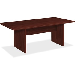 Basyx by HON BSXBLC72RNN Mahogany Conference Table with Slab Base