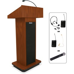 Amplivox Wireless Executive Sound Column Lectern | by Plexsupply