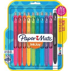 Paper Mate InkJoy Gel Retractable Pen - 10 assorted medium