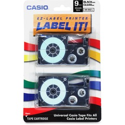 Casio Black on Clear EZ-Label Printer Tape 3/4