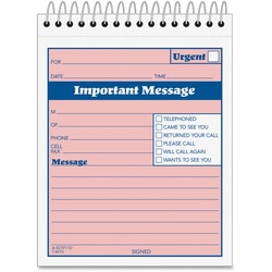 Adams Spiral-bound Phone Message Booklet | by Plexsupply