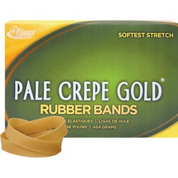 Alliance 1lb Box Pale Crepe Gold Rubber Bands | by Plexsupply