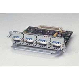 This network module has four synchronous serial interfaces, and