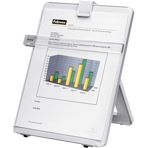 Fellowes Non-Magnetic Copyholder - Letter, Platinum