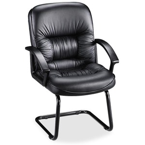 LLR60114 - Lorell Tufted Leather Executive Guest Chair