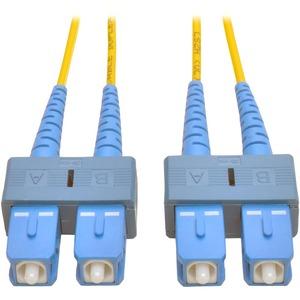 Tripp Lite 9M Duplex Singlemode 8.3/125 Fiber Optic Patch Cable SC/SC 30' 30ft 9 Meter - SC Male - SC Male - 29.53ft - Yellow