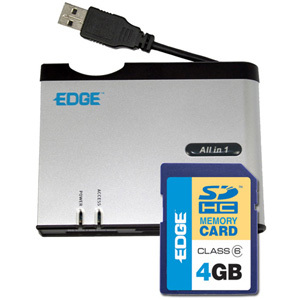 EDGE Tech 4GB SDHC Card and All-in-one Reader Kit