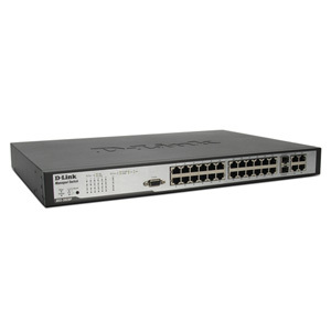 D-Link DES-3028P Managed Stackable Ethernet Switch with PoE