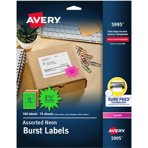 Avery Burst Laser Label