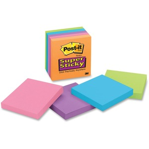 NOTE POSTIT NEON 3X3 5/PK SUPERSTICKY