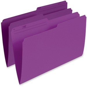 FILE FOLDER LEG VIOLET 100/BOX  1/2 CUT