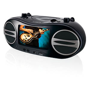 GPX BD707B Radio/DVD Player Boombox