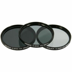 Dolica CF-NDK52 52mm Neutral Density 0.3, 0.6, 0.9 Glass Filter Kit