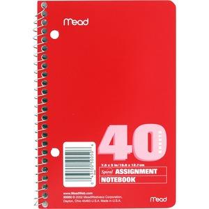 Mead Spiralbound Assignment Book
