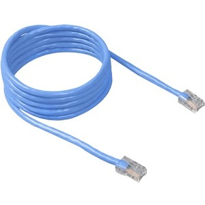 Belkin CAT6 Assembled Patch Cable * RJ45M/RJ45M; 10 Blue - Category 6 for Network Device - Patch Cable - 10 ft - 1 x RJ-45 Male Network - 1 x RJ-45 Male Network - Gold Plated Contact - Blue
