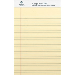 #63107 Legal Ruled Pad, canary ~ Pack of 12, 5x8