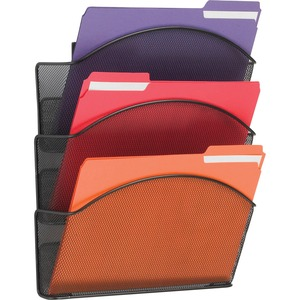 Safco Onyx Mesh Triple Letter Size Wall Pocket