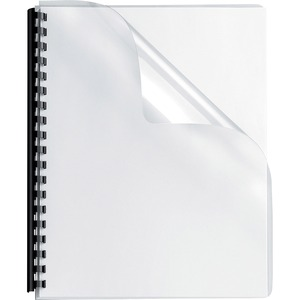 "Fellowes Transparent PVC Covers - Oversize, 100 pack - 11.3"" Height x 8.8"" Width x 0"" Depth - Clear - PVC Plastic - 100 / Pack"