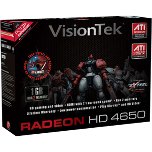 Visiontek Radeon HD 4650 Graphic Card - 1 GB DDR2 SDRAM