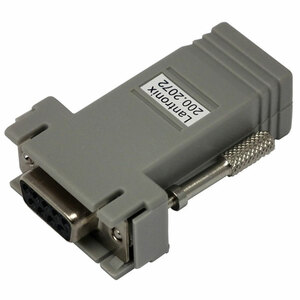 Lantronix DCE Adapter - 1 Pack - 1 x RJ-45 Network - 1 x DB-9 Female Serial