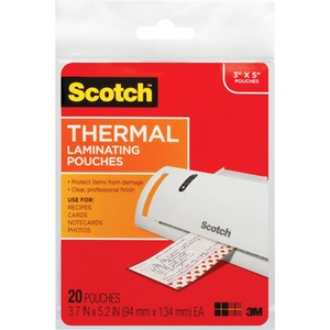 Scotch TP590220 Index Card Size Thermal Laminating Pouch