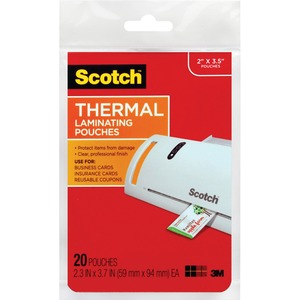 Scotch TP585120 Business Card Size Thermal Laminating Pouch