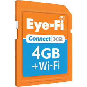 Eye-Fi EYE-FI-4CN Eye-Fi Connect X2 Wireless 4GB SDHC Flash Storage