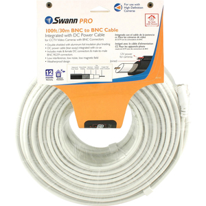 Swann RG59 Coaxial Cable with Integrated DC Power Cable