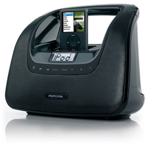 Memorex miniMove Mi3X Player Dock/Radio Boombox