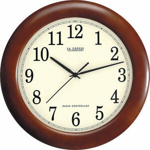 "La Crosse Technologies WT-3122A LC 12.5"" Atomic Analog Clock"