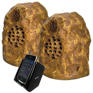 Cables Unlimited SPK-ROCK-DUO3 SPEAKERS, SANDSTONE WIRELESS ROCK Audio Electronics